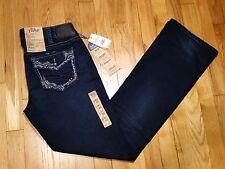 Silver Aiko Slim Boot Jeans Size 32 L 33 Mid Rise Dark Wash Super Stretch NWT