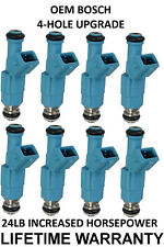 8X 24LB Bosch 4 Hole Upgraded Fuel Injectors For 96-04 Ford Mustang 4.6L V8