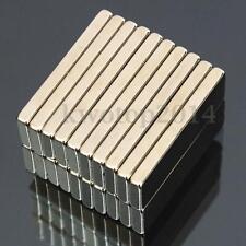 20Pcs Super Strong Block Cuboid Magnets 30x10x3mm Rare Earth Neodymium N50