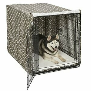 """8"""" Extra Large Giant Breed Dog Crate Kennel XL Pet Wire Cage Huge Folding Cover"""