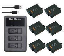 battery and charger for gopro hero 5 hero6 hero 7 hero 8 +LCD Display Screen
