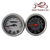 Tachimetro Royal Enfield 0-160 km/H Nero Bianco Combinazione Viso Kilometres
