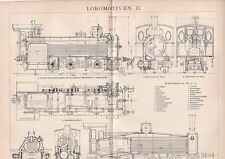 Stampa tedesca primi '900 novecento Locomotive ,ferrovie  R