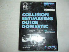 1997 Mitchell Dodge Chrysler Jeep Plymouth Collision Estimating Manual Guide VGC