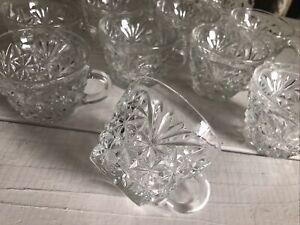 12 Vintage Anchor Hocking Arlington Punch Cups Set Dozen Clear Glass