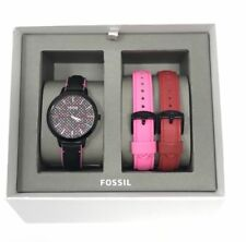 Fossil Multicolor New Bq3151 Ladies Rainbow Three Leather Interchangable Watch