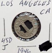 New listing 1946 Los Angeles Transit Lines Token ~ Los Angeles California ~ Ca450J