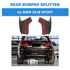 Fits BMW F15 X5 M Sport Rear Bumper Splitter Aprons Frares Carbon Fiber 14-18