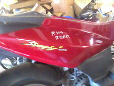 SYM SYMPLY 2 125cc RHS REAR SEAT PANEL RED 4T NO DAMAGE