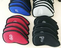 10x Golf Iron Cover Headcover For Taylormade M4 Mizuno Callaway Rogue Ping G400