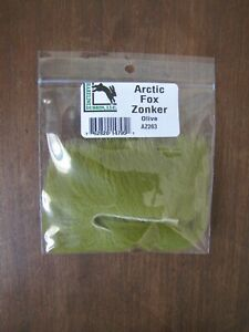 Fly Tying Hareline Arctic Fox Zonker - Olive