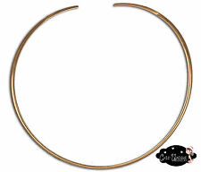 New Shiny Gold Round Minimalist 4mm Choker Collar Necklace Wire (CS13)