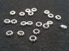 24 Tibetan Silver Spacer Beads, donut Shape, 6x3mm, Hole 3mm