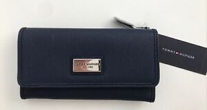 New Tommy Hilfiger Women Trifold Blue Wallet