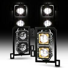 13-18 Dodge Ram 1500 Fog Light Bumper Running Lamp HIGH POWER LED Cube+Bracket