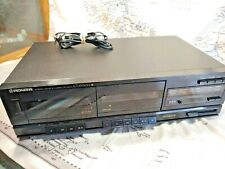 Pioneer CT-W300 STEREO DUAL CASSETTE DECK DOLBY B, C Noise Reduction - WORKS