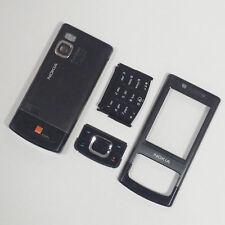 Genuine completo alloggiamento anteriore posteriore e Tastiere per Nokia 6500 Slide 6500s Nero