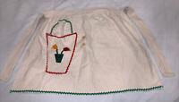 Vintage Half Apron Flour Sack Hand Made With Pocket