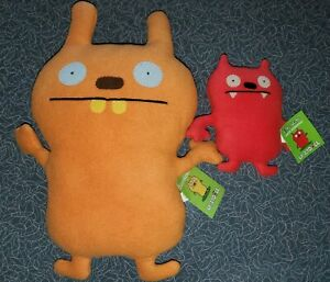 """NWT Ugly Doll Orange 15"""" Cozy Monster and Red 7"""" Dave Darinko Plush Lot"""