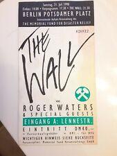 Roger Waters  Berlin Wall Concert Ticket 7-21-90