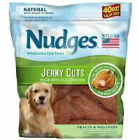 Nudges Health & Wellness Chicken Jerky Dog Treats, 40 oz. For Pet Chews