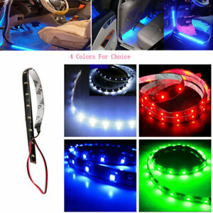 Universal CAR 30-120cm 5050 Chip LED Atmosphere Light Strip Lamp Flexible Decor
