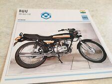 Carte moto Bajaj 100 Auto Colt 1993 collection Atlas motorcycle Inde