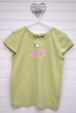Girls Sz 5 GYMBOREE Sunflower Fields s/s Green Ladybug Shirt Top