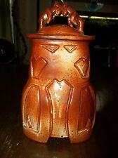 "James Robinson: Exquisite Pottery 10.5"" x 6"" x 6"" RAMS URN signed/mark 140402019"