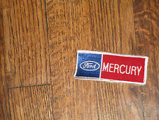 "ford mercury  patch, new old stock , 60's,3.75""x1.5"",set of 2"