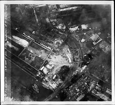 WWII Vintage Aerial Restricted US Photo of Japanese POW Camp Kawasaki Tokyo