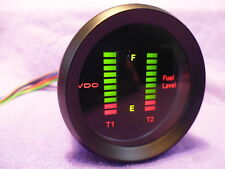 VDO DIGITAL DUAL FUEL GAUGE 2 YEAR WARRANTY.NOT AUTOMETER, SPECO, STEWART WARNER