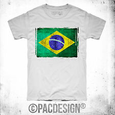 T-SHIRT BRASILE MONDIALI BRASILE 2014 EUROPEI NEYMAR FALCAO FLAG FS0018A