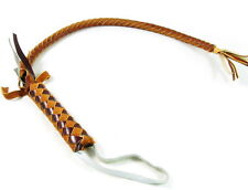 Mongolian Leather Horse Whip riding tack Crop Handmade hand braided Strong NEW