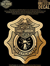 Harley-Davidson Firefighter Original Gold Paper DECAL