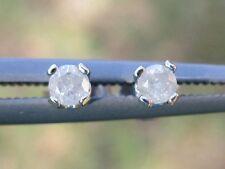 .15ctw DIAMOND EARRINGS in STERLING SILVER!!  NEAR EYE CLEAN! VERY NICE!  2.5mm