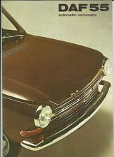 DAF 55 AUTOMATIC/VARIOMATIC CAR SALE BROCHURE SEPTEMBER 1971 FOR 1972 MODEL YEAR