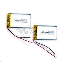 2PCS Li-polymer Rechargeable Battery Li-ion  3.7V  900 mAh for GPS 603048 3-wire