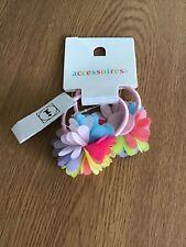 2 Multicoloured Flower Hair Accessoires