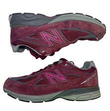 New Balance 990v4 Burgundy Suede 3M Running Athletic Shoes Kids 4/Womens 5.5
