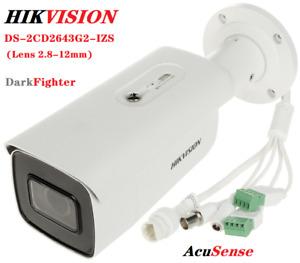 Hikvision DS-2CD2643G2-IZS 4MP DarkFighter Bullet IP Camera AcuSense 2.8-12mm