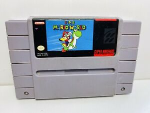 Super Mario World — SNES Super Nintendo Authentic Original Game