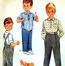 "Vintage 60s BOYS SHIRT & TROUSERS Childs Sewing Pattern Chest 22"" Size 3 RETRO"