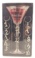 Michael Aram Wine Charms 1-12 Stemware Ornaments nickel/pewter FREE SHIPPING!!!