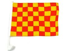"""12x18 Wholesale Lot 12 Red Yellow Checker Checkered Car Vehicle 12""""x18"""" Flag"""
