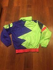 90's Vtg Rare PROFILE Ski Neon Color Block Mens Size M Jacket Coat Purple Yellow