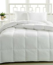 Hotel Collection FULL/QUEEN Comforter Luxe Down Alternative WHITE A08114