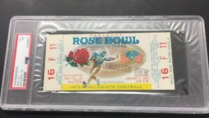 1976 Ohio State UCLA ROSE BOWL COLLEGE FOOTBALL FULL TICKET  PSA 7 NEAR MINT