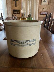 Vintage Duplex Percolator & Water Cooler Crock Jug Stoneware