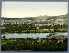 Ahrtal. Hohenhonnef und Nonnenwerth. PZ vintage photochromie, Deutschland phot